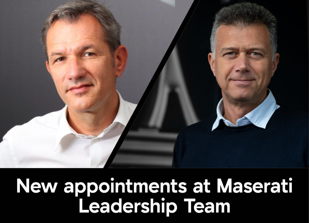 New appointments at Maserati Leadership Team