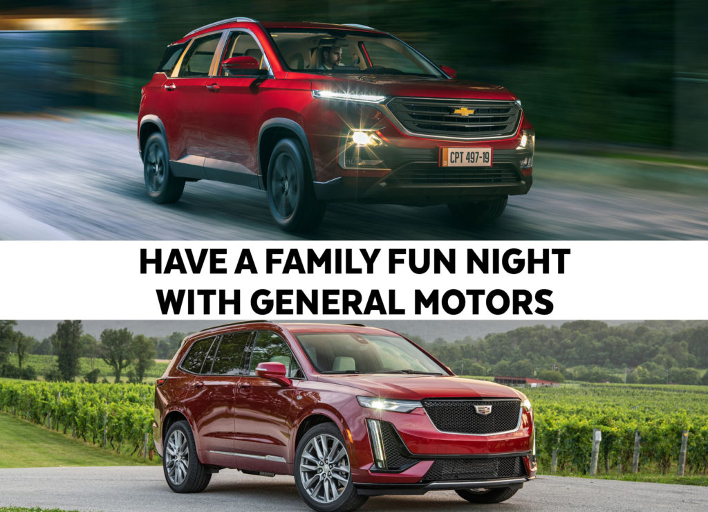 HAVE A FAMILY FUN NIGHT WITH GENERAL MOTORS