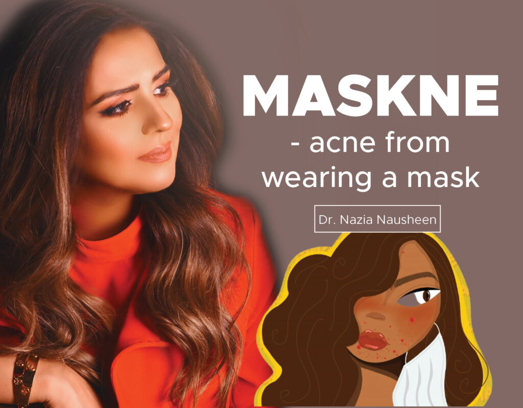 MASKNE- acne from wearing a mask